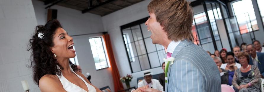 Blij bruidspaar