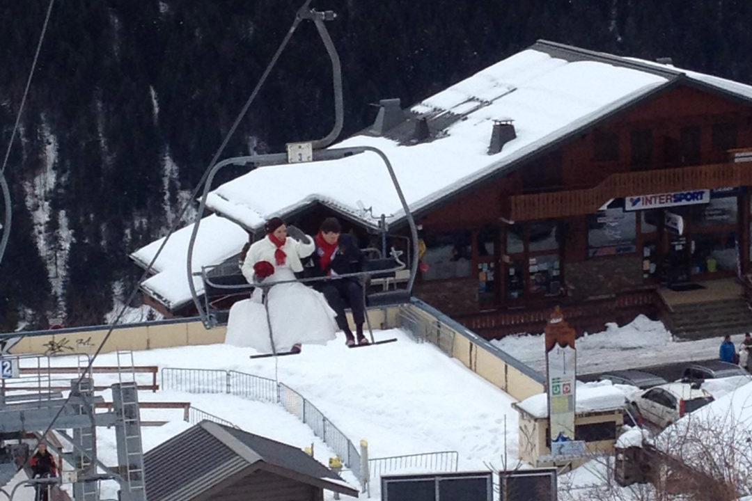 Valentijnsdag-aanzoek-ski